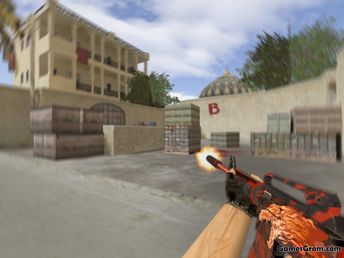 Скачать модель оружия m16 scooter m4a1(огненная) colt m4a1.