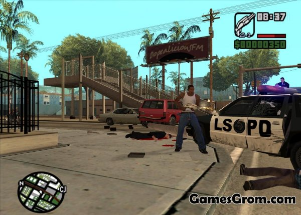 The effect of shot up close для GTA San Andreas