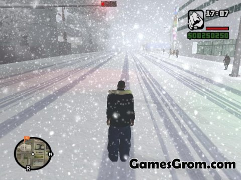 Мод GTA San Andreas Winter