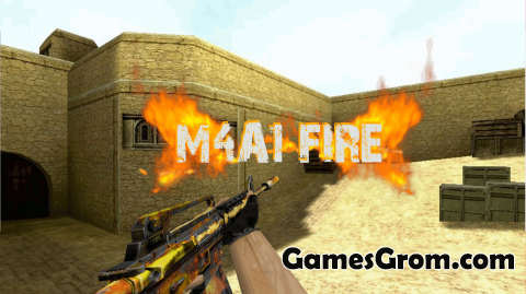 "Модель M4A1 ""Fire"" для cs 1.6"