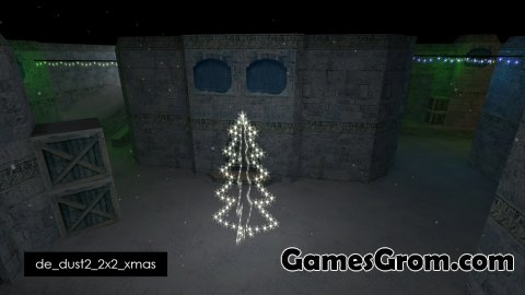 Карта De_Dust2_2x2_Xmas (зима) для cs 1.6